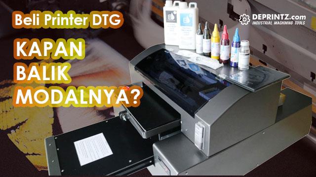 Perhitungan Bisnis Sablon Dengan Mesin DTG