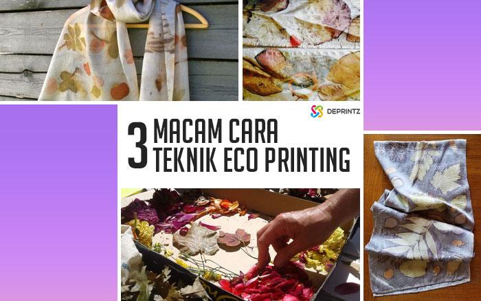 3 Cara Teknik Eco Printing dalam Dunia Tekstil