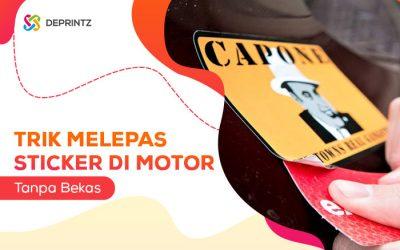 Tips Mudah Melepas Sticker yang Lengket pada Motor!