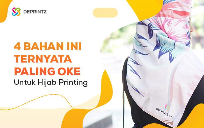 4 Bahan Hijab Printing yang Biasa Dipakai Selebgram!