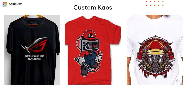 Hasil custom kaos dtf