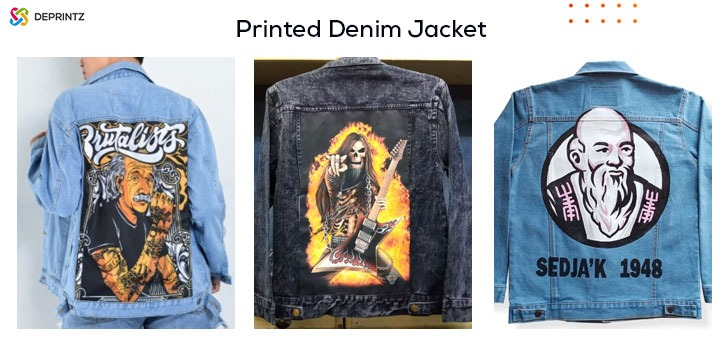 Hasil printed denim jacket