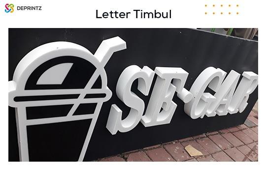 letter timbul akrilik