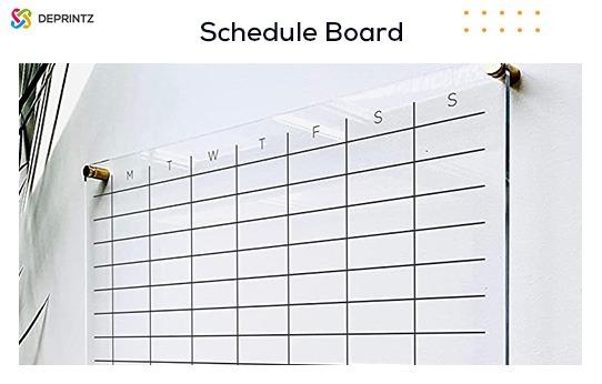 schedule board akrilik