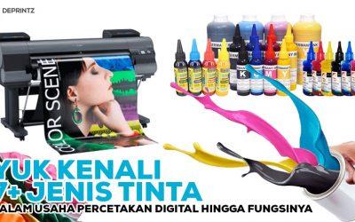 7+ Jenis Tinta Digital Printing, Bikin Usahamu Makin Amazing [TERBARU]