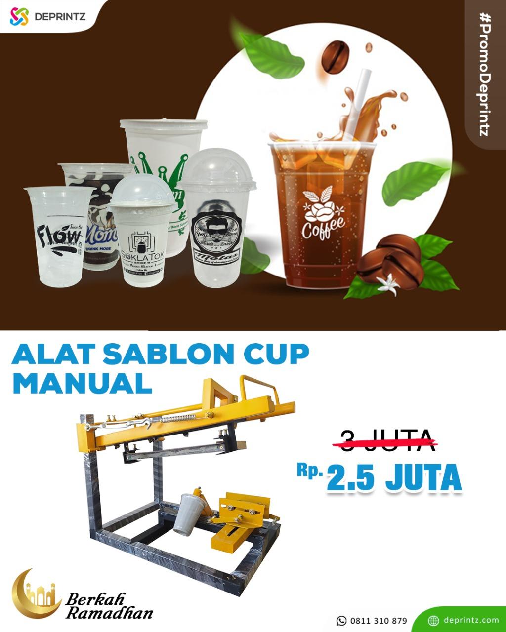 promo sablon cup manual